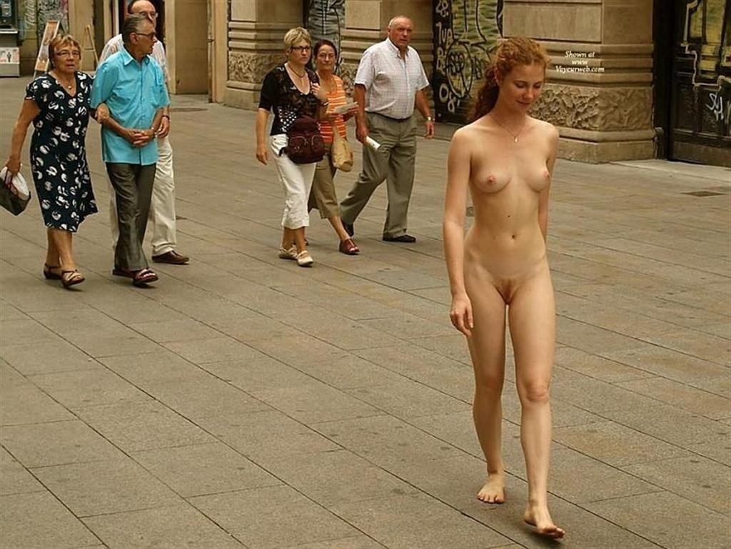 Teens naked in the street for men only