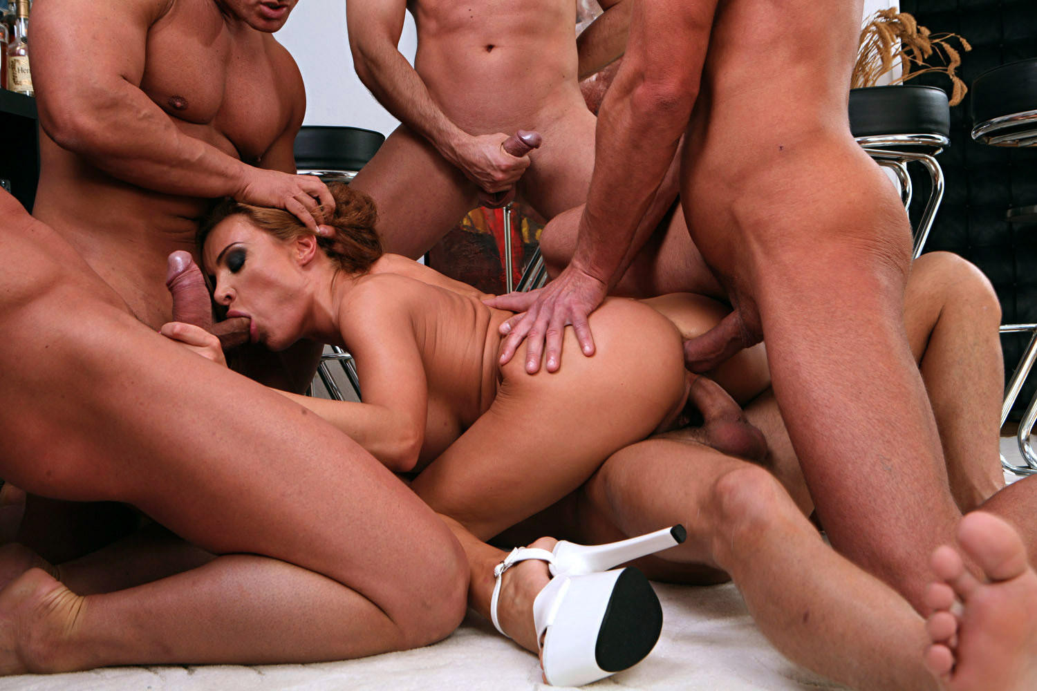 Ethnic gang bang anal, fine ass mexican girl