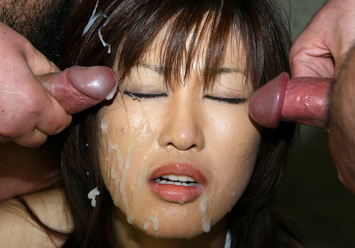 Asian japanese bukkake facial