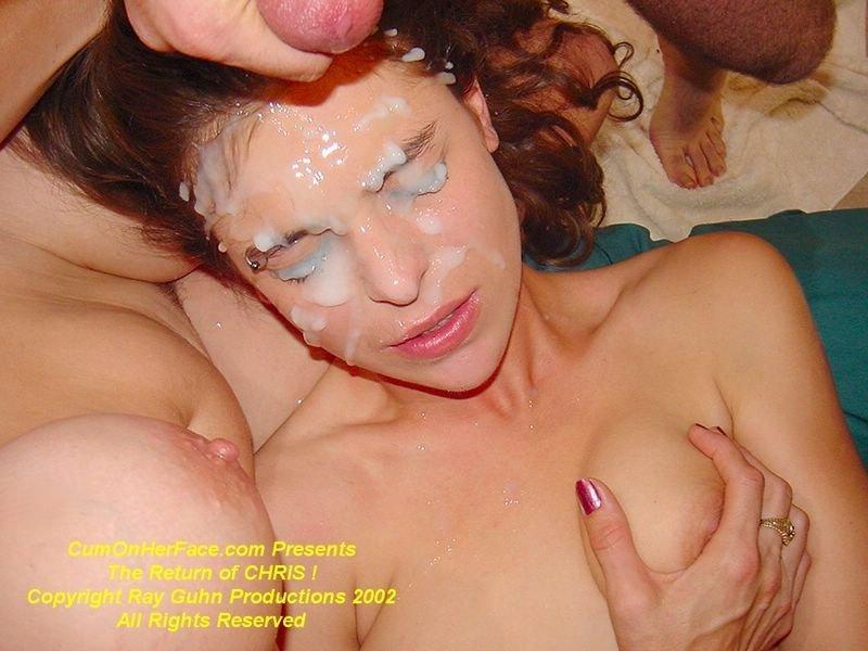 Secret slut wife blindfolded anal bukkake