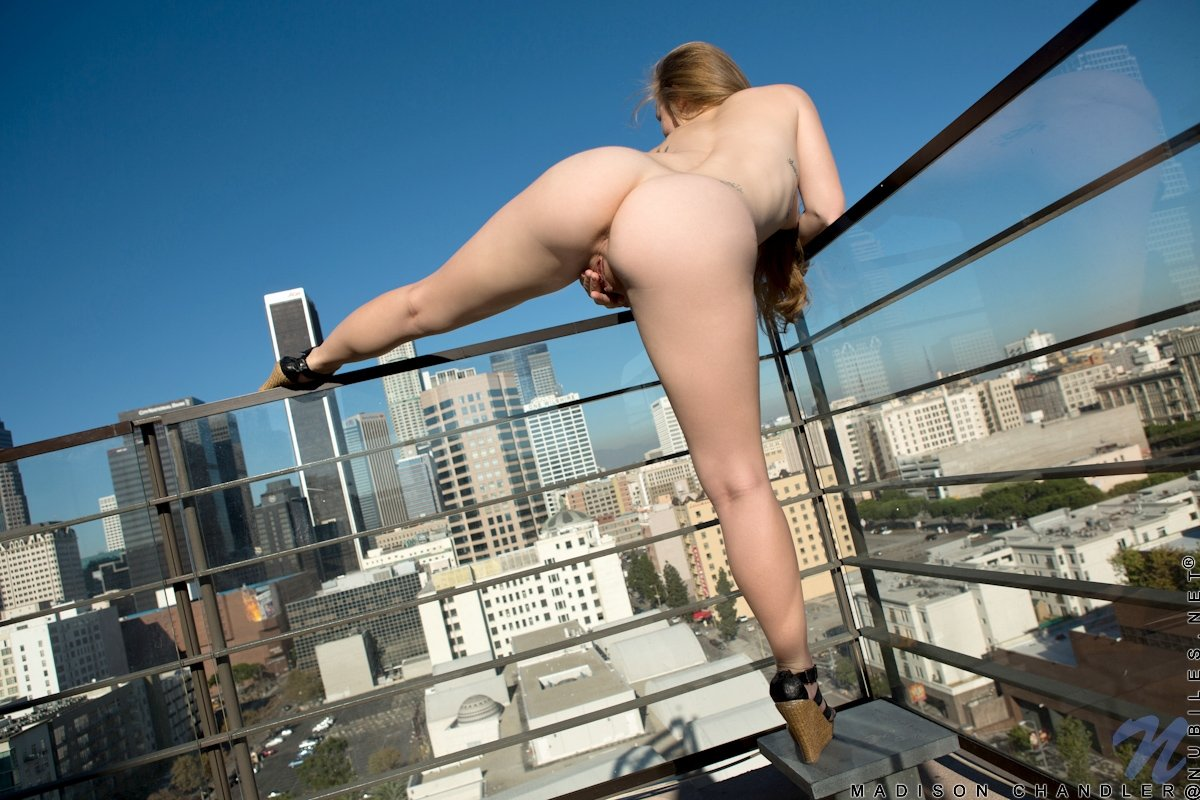 Голая пизда на фоне небоскребов