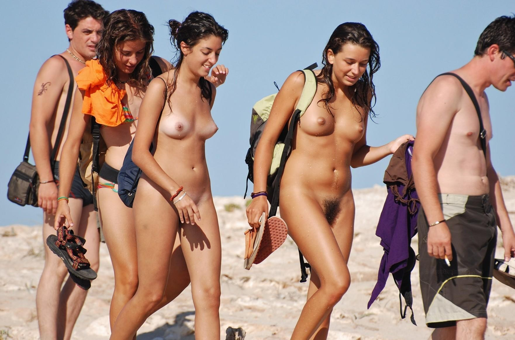 Twins and action nude beach pics