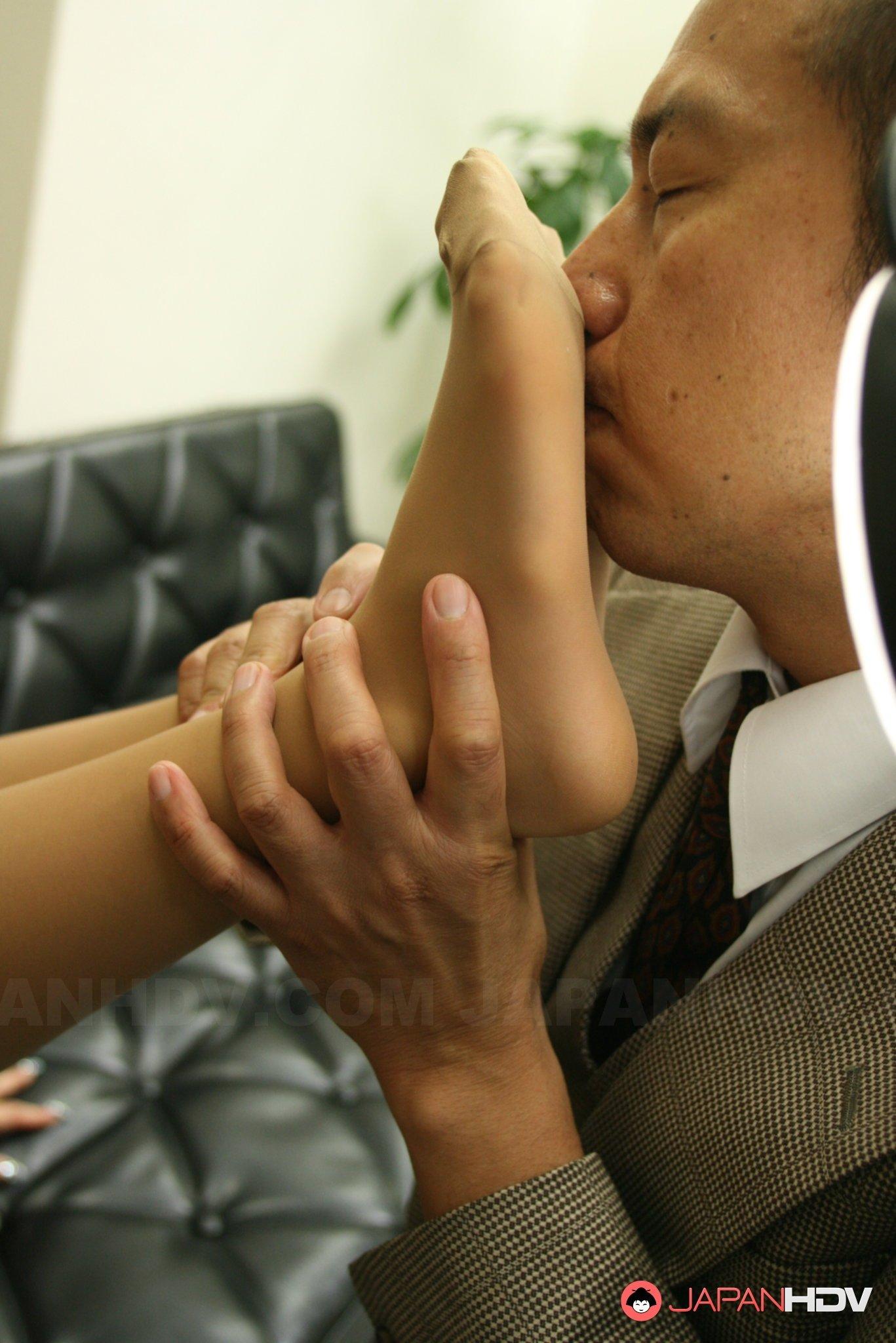 Оральный секс с японской секретаршей
