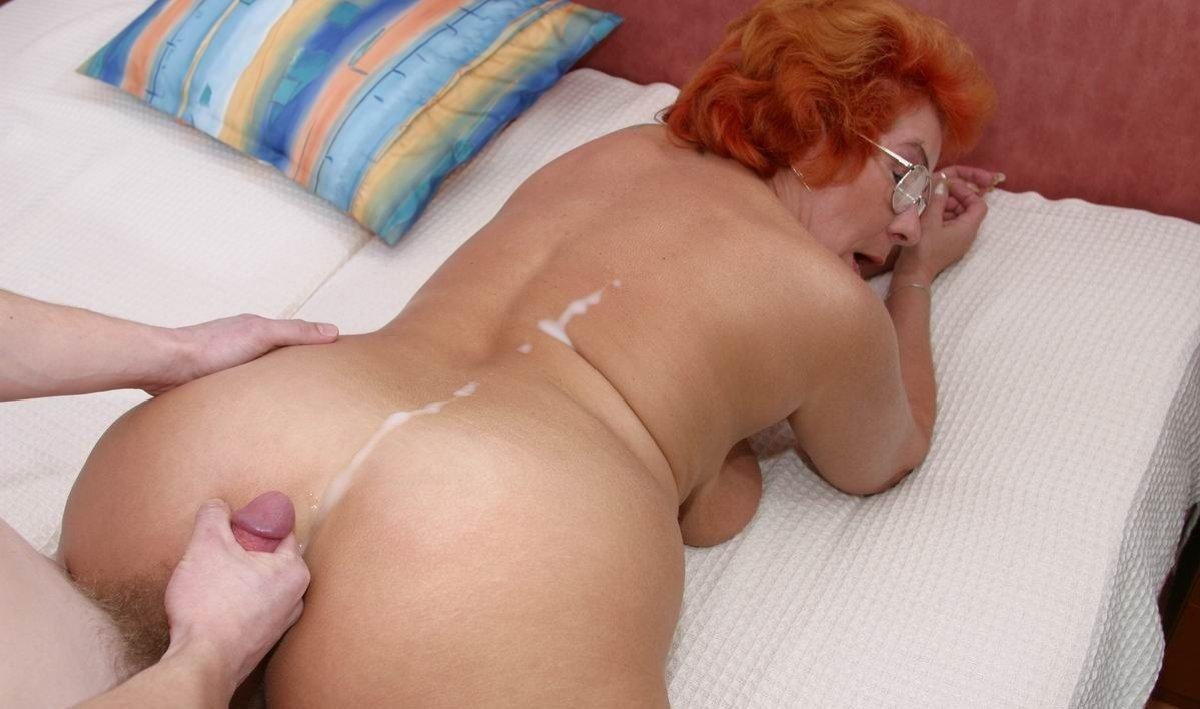 Mature Redhead Anal Creampie
