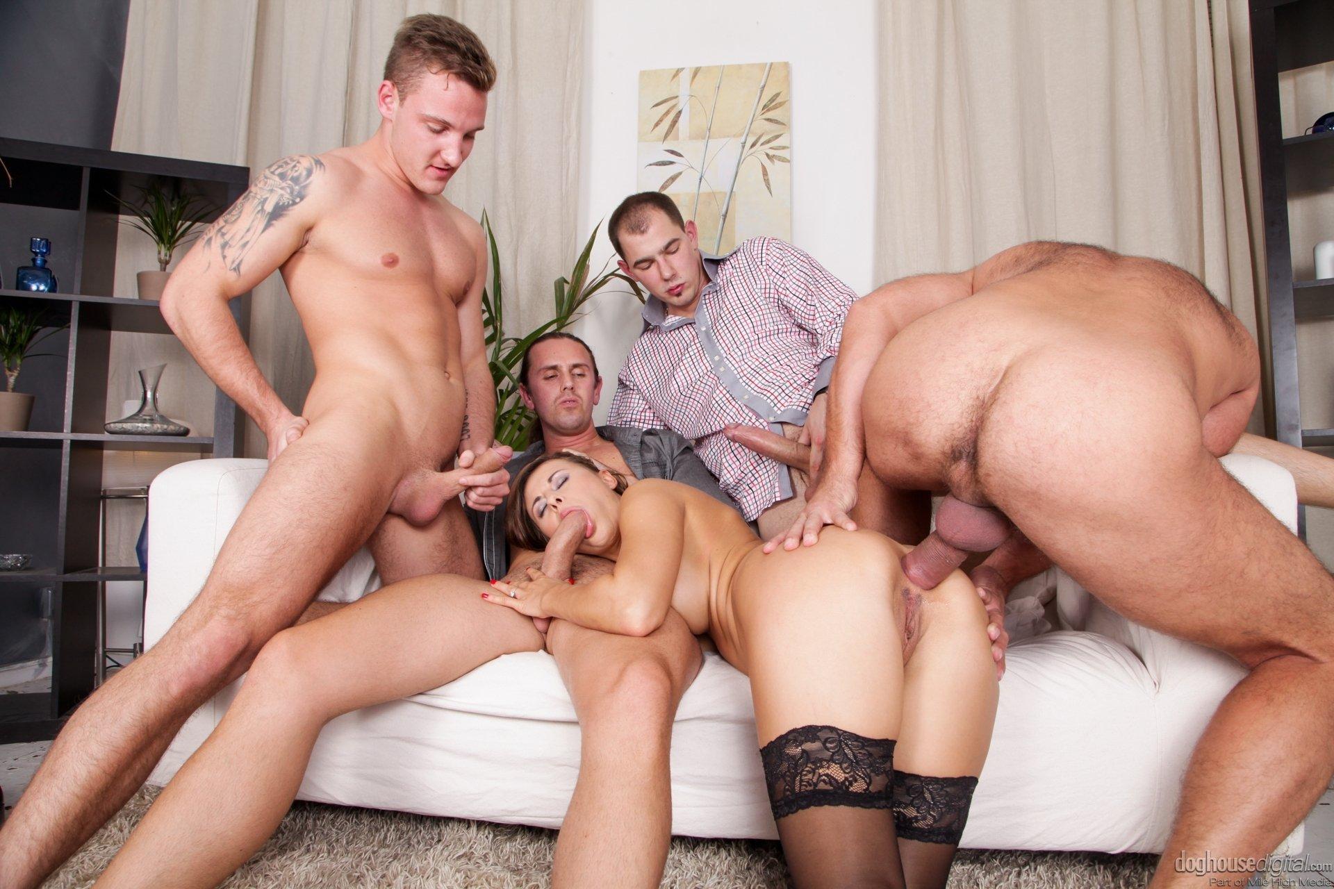 Amateur group sex double penetration