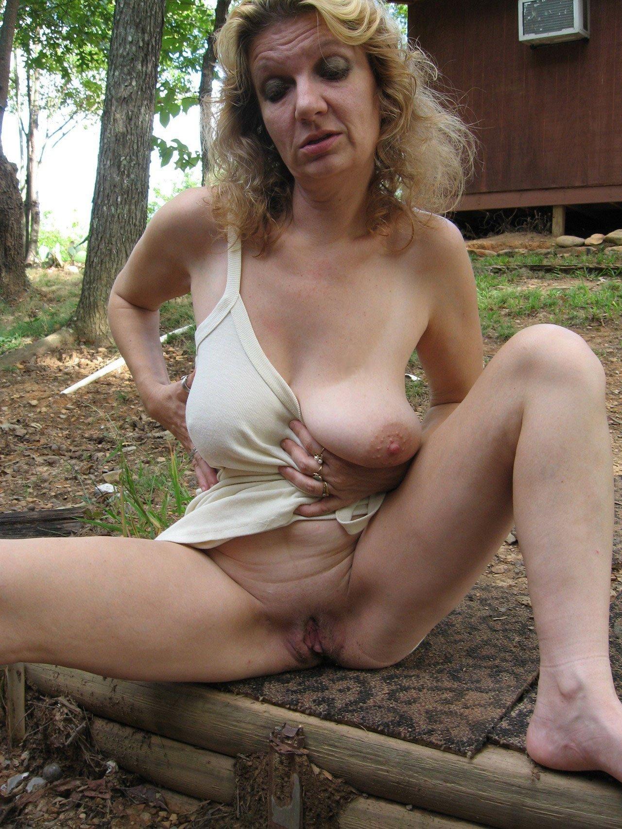 Public nude mature