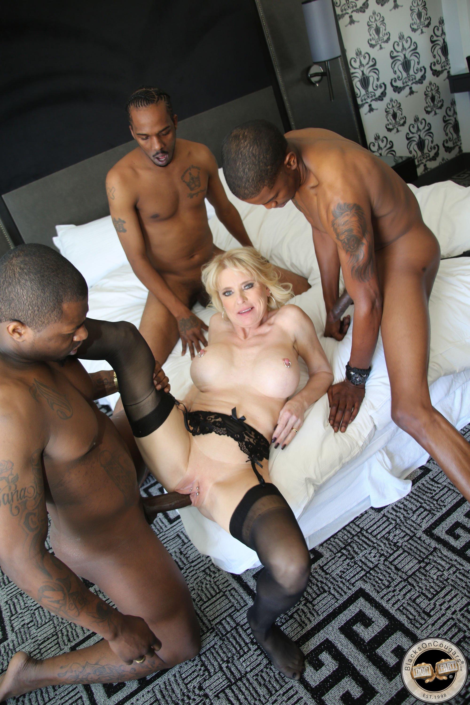 Rita washing then bangs black men
