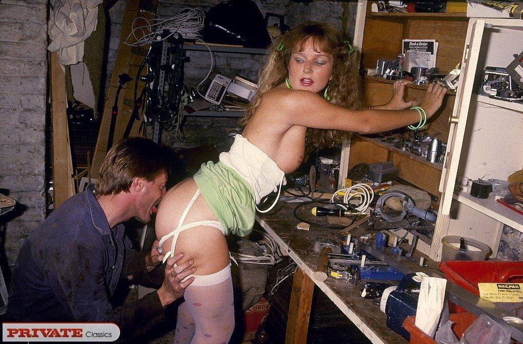 Ретро порно в мастерской