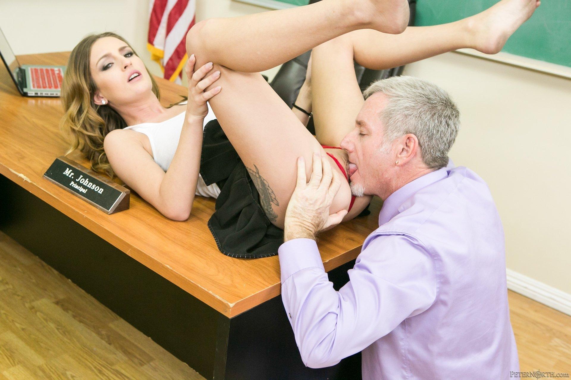 Lesbian Teacher Rubbing Students Pussy
