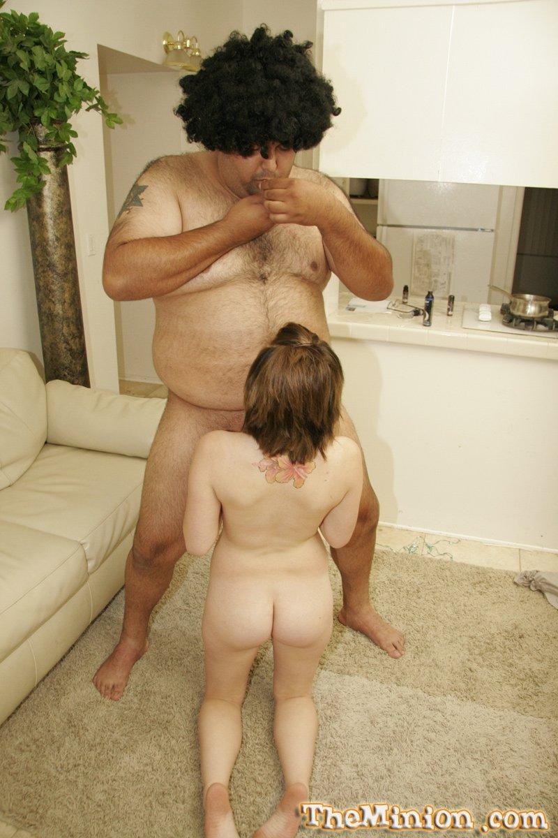 Молодая сучка и толстяк