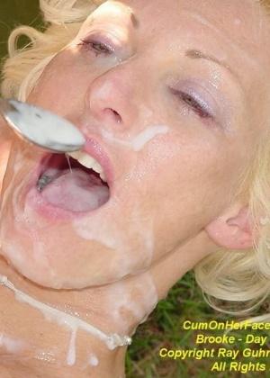 Развратные игры со спермой на даче