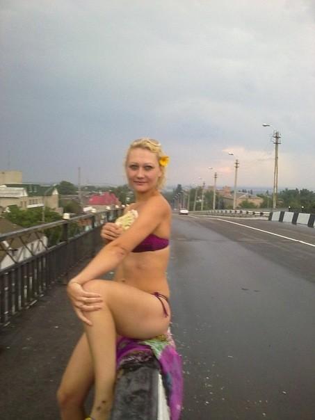 Украинка Ирина в нижнем белье на улице