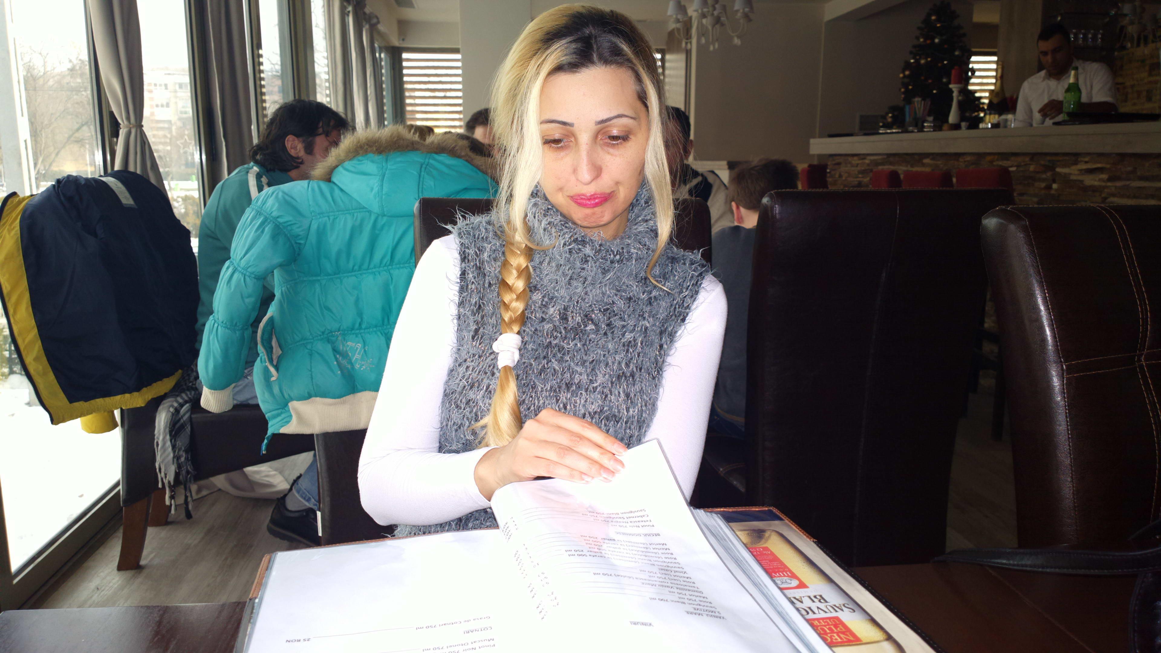 Милая блондинка из Румынии