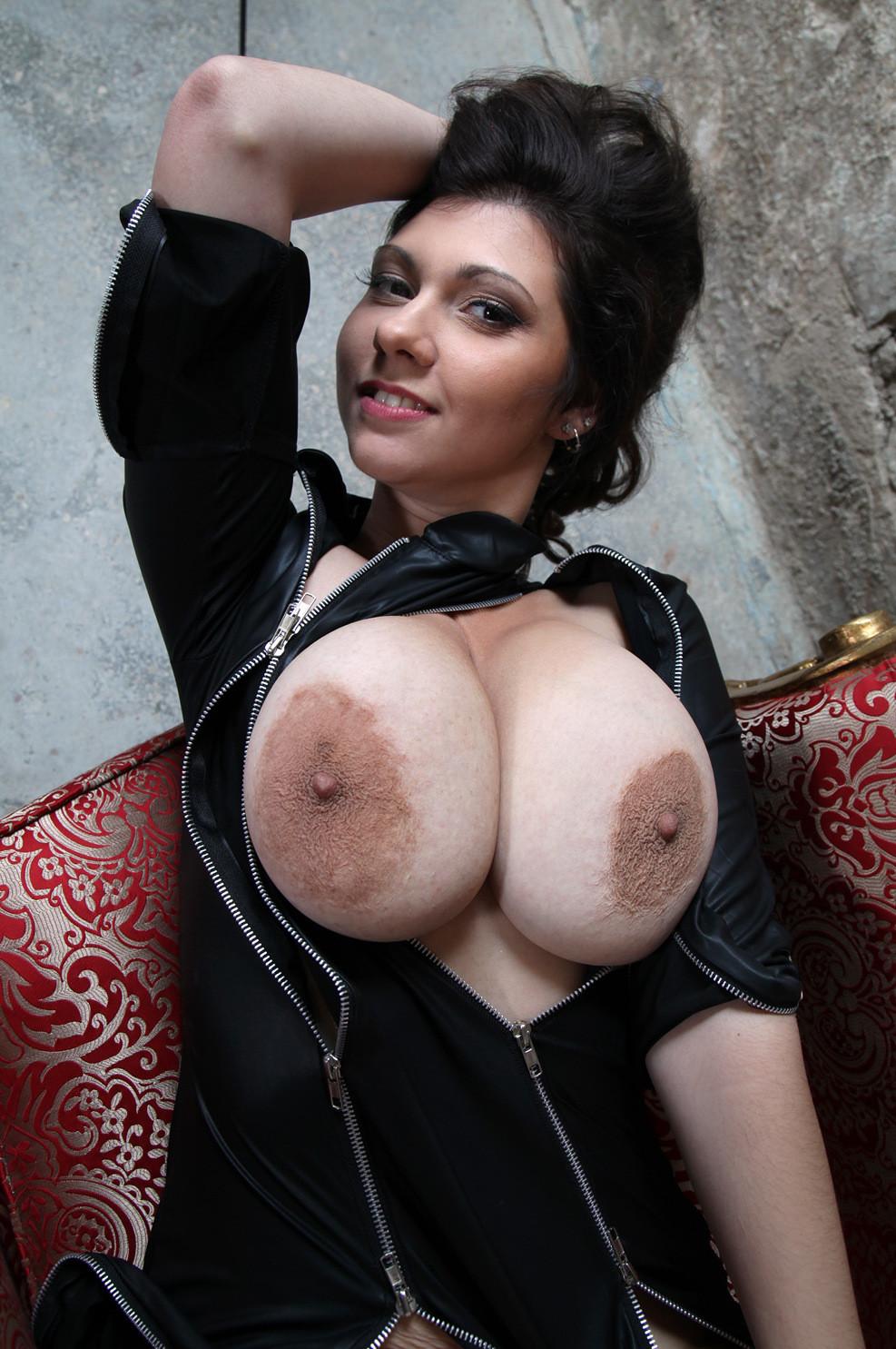 Huge areola tits