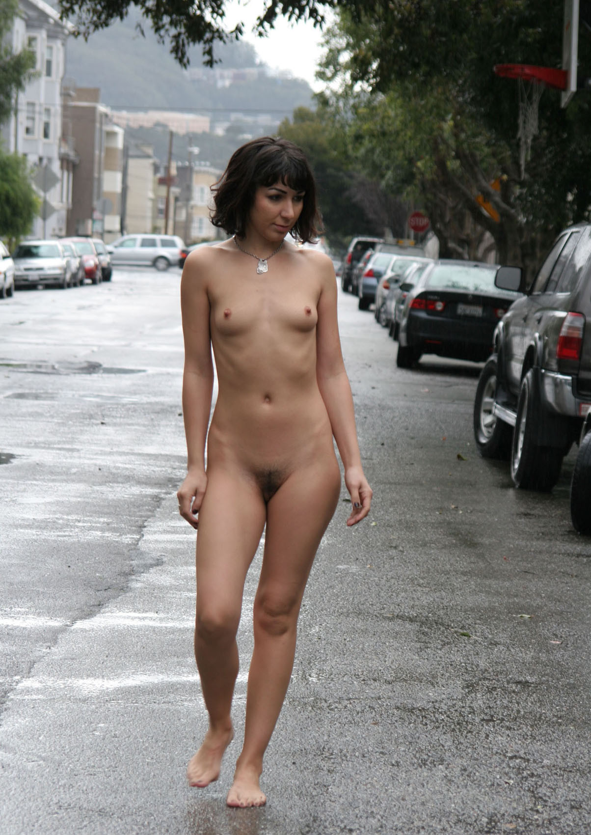 Naked small girls in street, she male with pussy