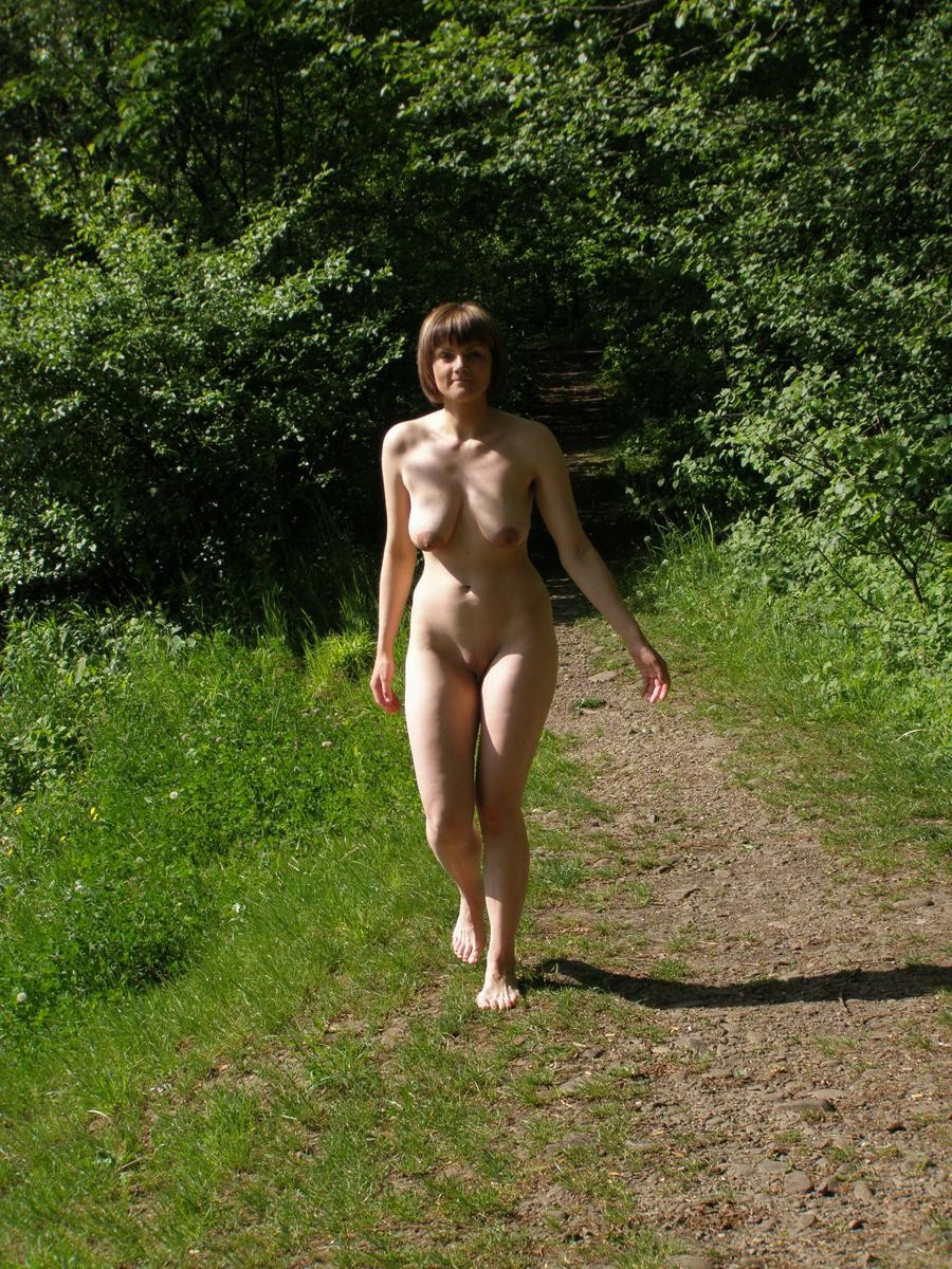 Nude petite ladies naked outdoor