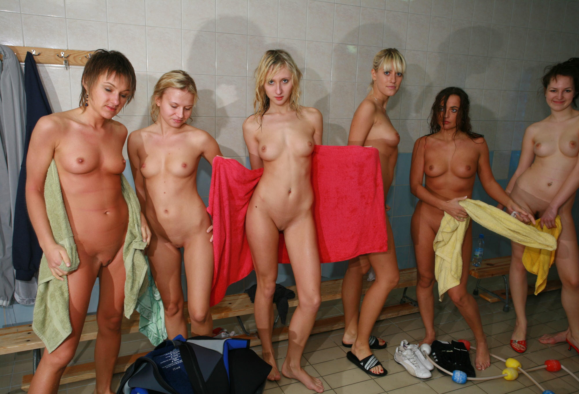Nude changing room shower #10