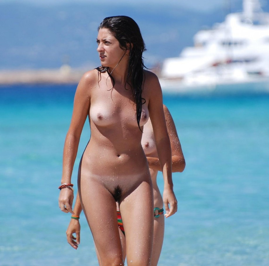 Casual beach nude