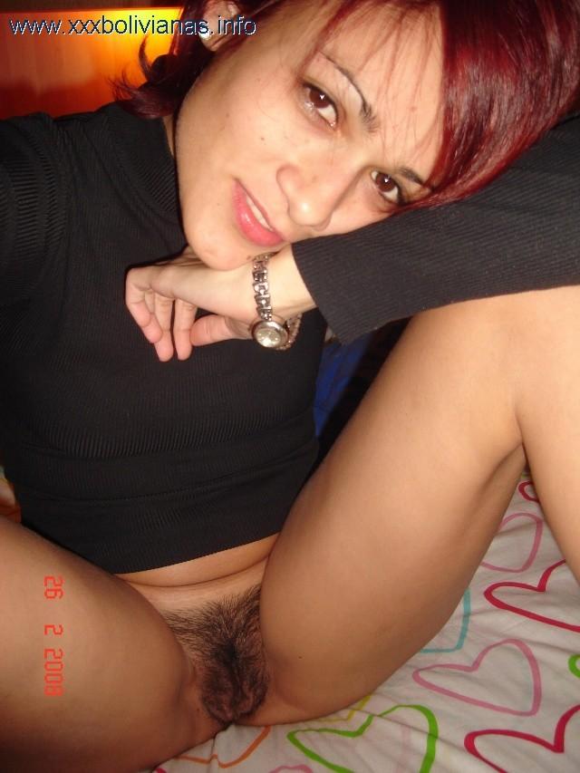 Симпатичная боливийка с волосатой пиздой