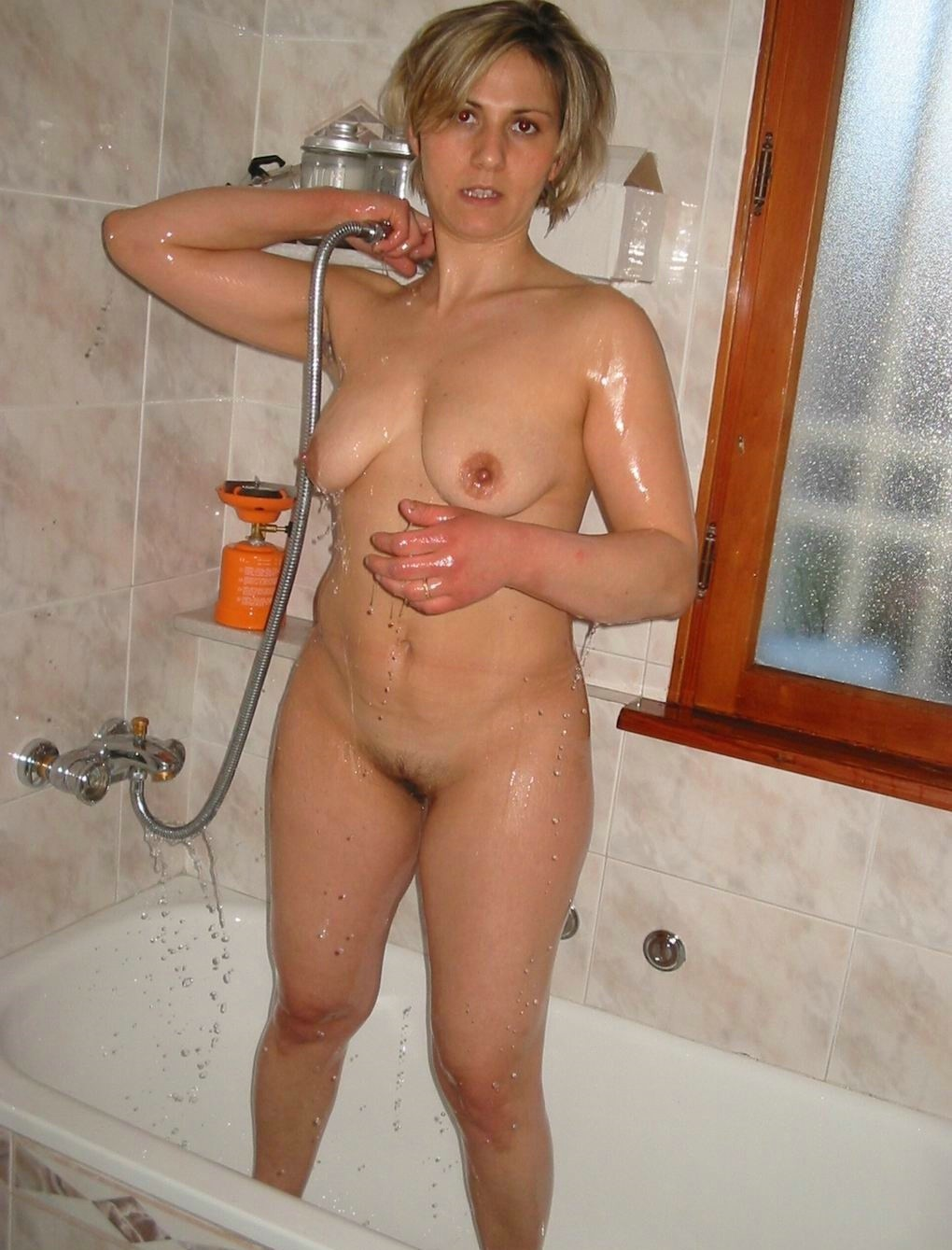 Hot milf caught nude #1