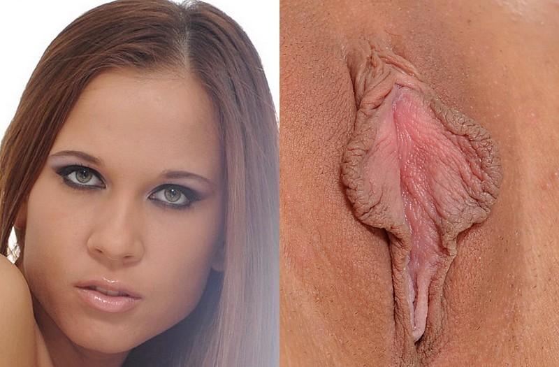 Разные женские лица и их пизды, большая толстая жопа телки