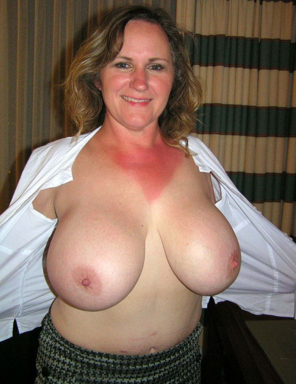 Nude older women breast mary