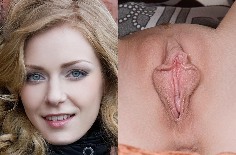 Киски и лица женщин порно фото #7