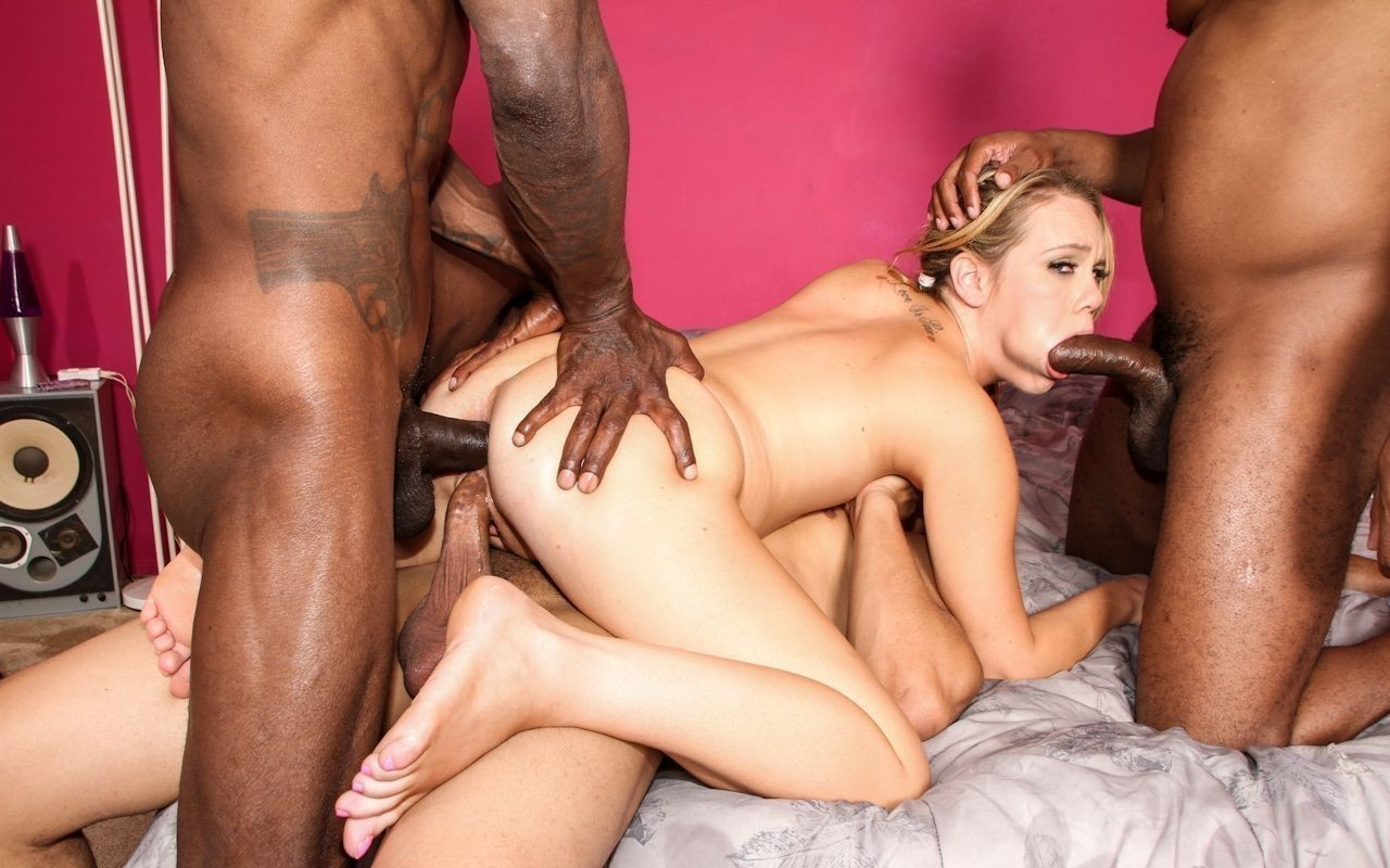 Nasty gays fucking in hardcore interracial gangbang with ethan star