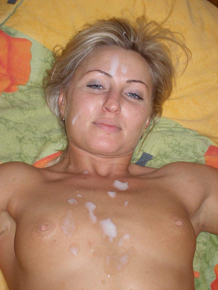 Сперма на теле голых зрелых девушек — photo 14