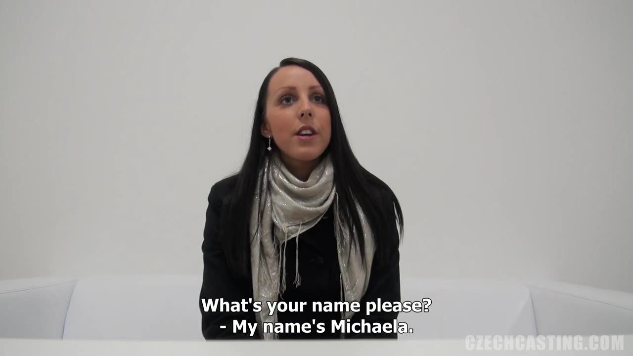 Брюнетка Микаэла дала на кастинге